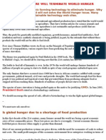 ORGANIC AGRICULTURE WILL TERMINATE WORLD HUNGER