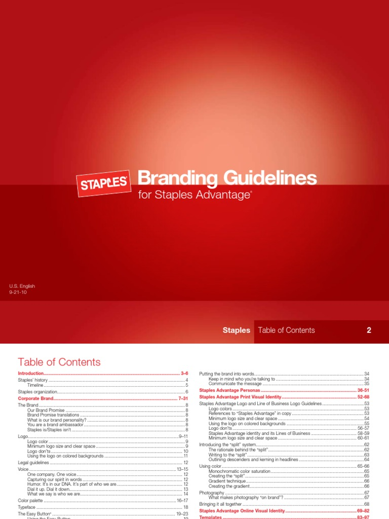 Staples US Contract Guidelines   Arial   Logos