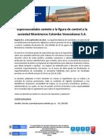 Supersociedades Somete a La Figura de Control a La Sociedad Monómeros Colombo Venezolanos S.a.