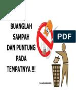 Anjuran Buang Sampah