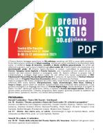 CS Premio Hystrio21 Programma