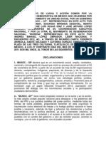 Acuerdo Político MUSOC - MORENA