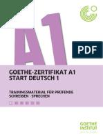 GOETHE-ZERTIFIKAT A1 START DEUTSCH 1 TRAININGSMATERIAL FÜR PRÜFENDE SCHREIBEN SPRECHEN