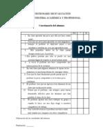 Evaluación autoestima académica  y profesional