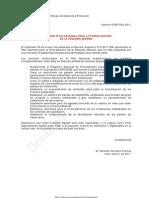Plan Nacional para la Formalizaciòn de la Pequeña Mineria