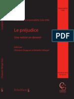 [Collection Genevoise. Droit de La Responsabilité] Christine Chappuis, Bénédict Winiger (Eds.) - Le Préjudice _ Une Notion en Devenir _ Journée de La Responsabilité Civile 2004 (2005, Schulthess) - Libge