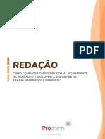 TEMA DE REDAÇÃO - COMO COMBATER O ASSÉDIO SEXUAL NO AMBIENTE DE TRABALHO