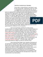 REFLECTION CONSTRUCTIVISM-PIAGET-BRUNER
