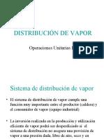 Distribución de vapor y uso de condensado