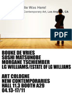 SUPER WINDOW PROJECT / LG Williams @ ART COLOGNE HALL 11.3 BOOTH A29