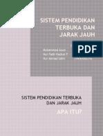 Sistem Pendidikan Terbuka Dan Jarak Jauh_Slide