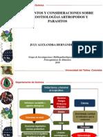 ELEMENTOS Y CONSIDERACIONES SOBRE EPIZOOTIOLOGÍAS ARTROPODOS Y PARASITOS1