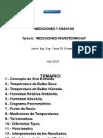 6-Guía Tema 6 - Mediciones Higrotérmicas - 2020