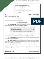 UNITED STATES OF AMERICA v. CRANE TECHNOLOGIES GROUP, INC. et al Assignment Order
