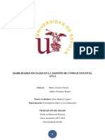 Alvarez y Alcantara. (2018) Habilidades Sociales en Al Gestión de Conflictos en El Aula