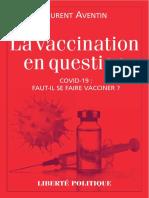 Livre - La Vaccination en Question - Avril 2021