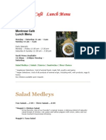 Montrose Caf    Lunch Menu