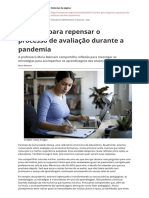 Sete pontos para repensar o processo de avaliacao durante a pandemia