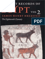 BREASTED, James H. - Ancient Records of Egypt - Vol. 2 - The Eighteenth Dynasty