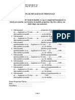 Carte de imobil Formular date personale
