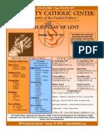 2011.04.10 - 5th Sunday of Lent