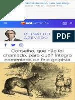 Análise Reinaldo Azevedo - Conselho da República ,