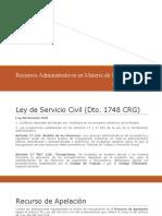 2. Recursos Administrativos en Materia de Servicio Civil