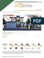 Planta de Sobrado Moderno Com 3 Quartos - Projetos de Casas, Modelos de Casas e Fachadas de Casas