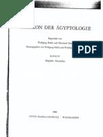 Lexikon der Ägyptologie - Band IV  (Megiddo - Pyramiden)