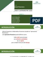 CÁLCULO FINANCIERO-Clase 1-2doC-2020