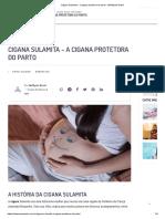 Cigana Sulamita - a cigana protetora do parto - WeMystic Brasil