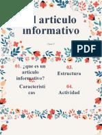 Clase 5 Lenguaje Textos Informativos