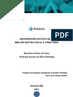 Análise Critica- Imposto sobre Grandes Fortunas IGF - Direito Tributário