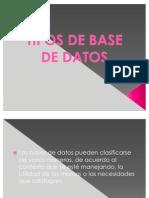 Presentación base de datos