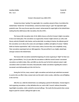womens freedom essay