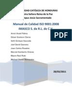 Manual De Calidad ISO 9001 2008 IMASCO S. de R.L.