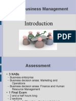 Higher Business Management - 1 - Introduction