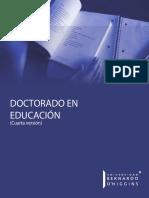Folleto doctorado en educación 2019 CHILE