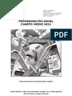 IV. Programación del alumno 2011