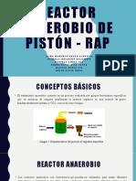 Reactor anaerobio de pistón