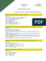 Cronograma Turma 6 - Curso Psicoterapia Infantil e Orientação de Pais