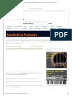 Acordes en guitarra (distintas posiciones de dedos) _ ENCHUFA LA GUITARRA