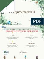 LA ARGUMENTACIÓN II 3°M
