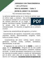 DERROTANDO EL EGOISMO TALLER 3