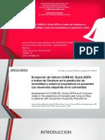 Evaluación de índices CURB-65, Quick-SOFA e índice de Charlson