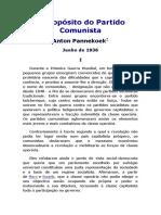 A propósito do partido comunista - Pannekoek