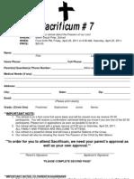 Sacrificum Application 2011
