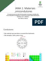 SEMANA 1 - Materiais Semicondutores