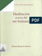 MEDITACION acerca del ser humano (Blanca del Valle Avellaneda)