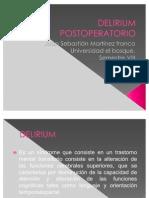 DELIRIUM POSTOPERATORIO